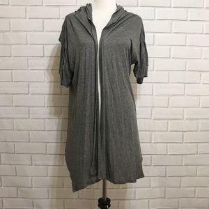Torrid Gray Hoodie Open Front Cardigan Size 2
